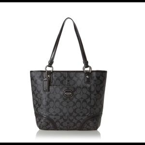 Coach Heritage Peyton Coated Leather Tote